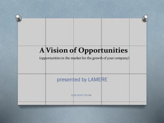 A Vision of Opportunities