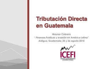 Tributaci�n Directa en Guatemala