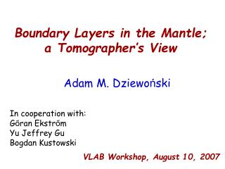 Boundary Layers in the Mantle; a Tomographer's View