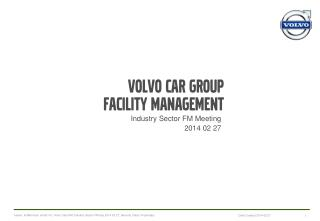 Volvo car Group Facility Management
