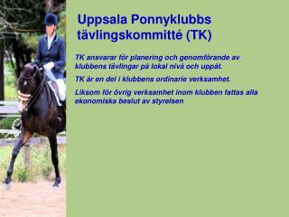 Uppsala Ponnyklubbs  tävlingskommitté (TK)