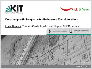 Domain-specific Templates for Refinement Transformations