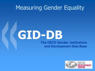 Measuring Gender Equality