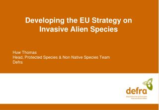 Developing the EU Strategy on Invasive Alien Species