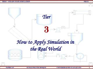 How to Apply Simulation in the Real World