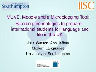 MUVE, Moodle and a Microblogging Tool: