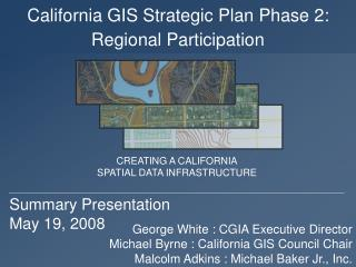 California GIS Strategic Plan Phase 2: