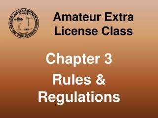 Amateur Extra License Class