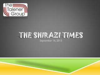 The Shirazi Times