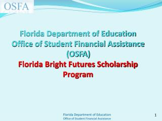 2012-13 High School Graduates and Bright Futures (BF) Scholarships