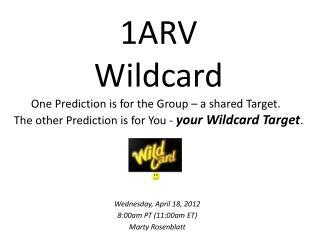 Wednesday, April 18, 2012 8:00am PT (11:00am ET) Marty Rosenblatt