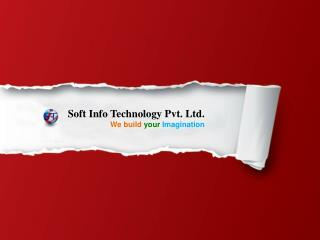 Soft Info Technology Pvt. Ltd. We build your Imagination
