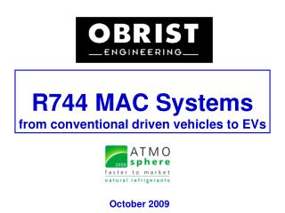 R744 MAC Systems  from conventional driven vehicles to EVs