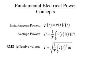Fundamental Electrical Power Concepts