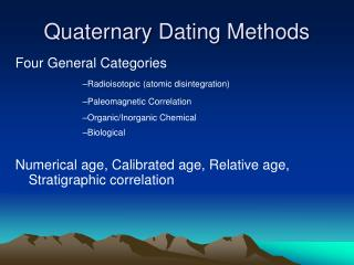 Advantages and disadvantages of relative and radiometric dating