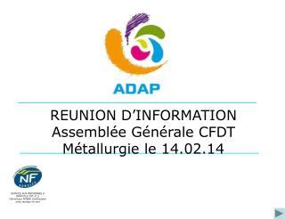 SERVICE AUX PERSONNES A DOMICILE (NF 311) Délivré par AFNOR Certification marque-nf