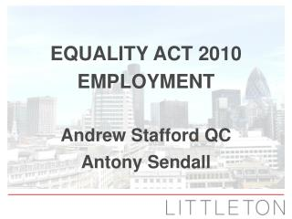 Equality Act 2010 Employment
