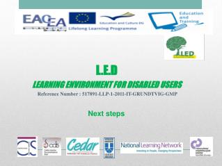 L.E.D LEARNING ENVIRONMENT FOR DISABLED USERS