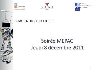 Soir e MEPAG Jeudi 8 d cembre 2011