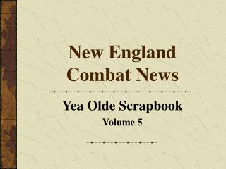 New England Combat News