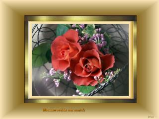 Bloemen weelde met muziek