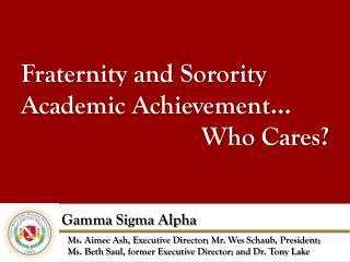 Gamma Sigma Alpha