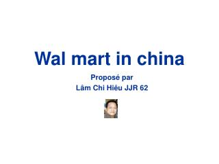 Wal mart in china