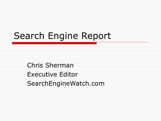 Search Engine Report