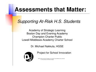 Supporting At-Risk H.S. Students