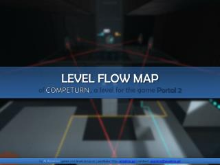 LEVEL  FLOW MAP of                          , a  level  for  the  game  Portal 2