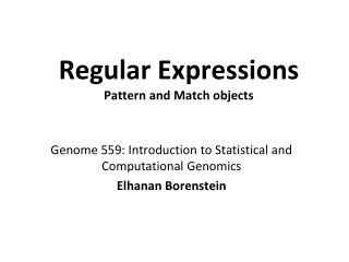 Regular  Expressions Pattern and Match objects