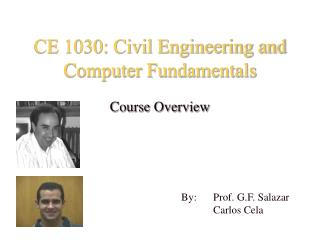 CE 1030: Civil Engineering and Computer Fundamentals
