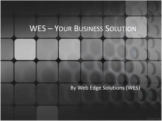 WES  –  Your  Business Solution