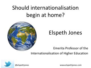 Should  internationalisation  begin at home?