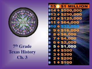 7 th  Grade Texas History Ch. 3