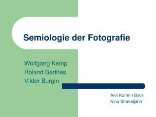 Semiologie der Fotografie