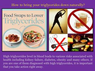 Reduce triglycerides Naturally