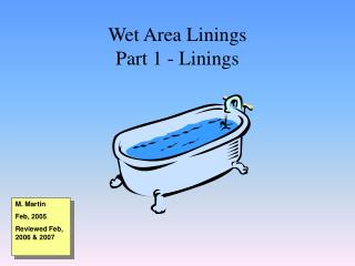 Wet Area Linings Part 1 - Linings