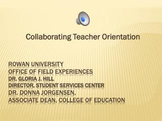 Collaborating Teacher Orientation