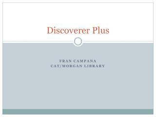 Discoverer Plus
