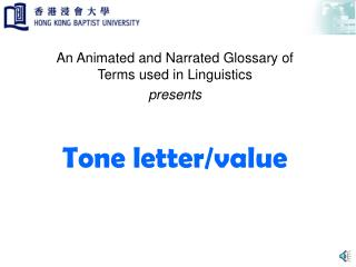 Tone letter/value