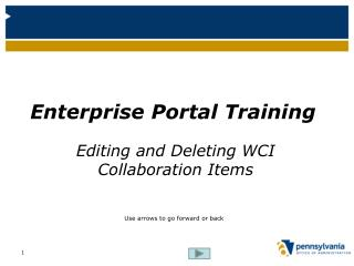 Enterprise Portal Training