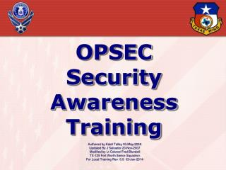 OPSEC Security Awareness Training
