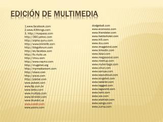 EDICIÓN DE MULTIMEDIA