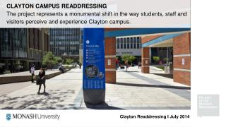 CLAYTON  CAMPUS READDRESSING