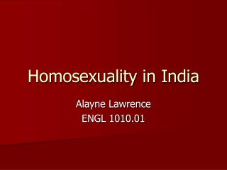 Homosexuality in India
