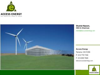 Shahid Naeem,               CEO & Chairman shahid@ae-accessenergy