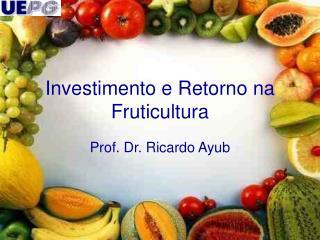 Investimento e Retorno na Fruticultura