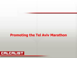 Promoting the Tel Aviv Marathon