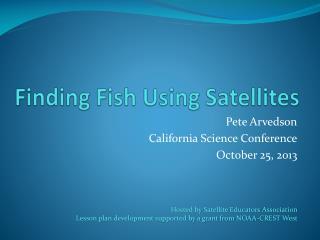 Finding Fish Using Satellites